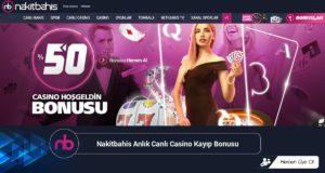 Nakitbahis Anlık Canlı Casino Kayıp Bonusu