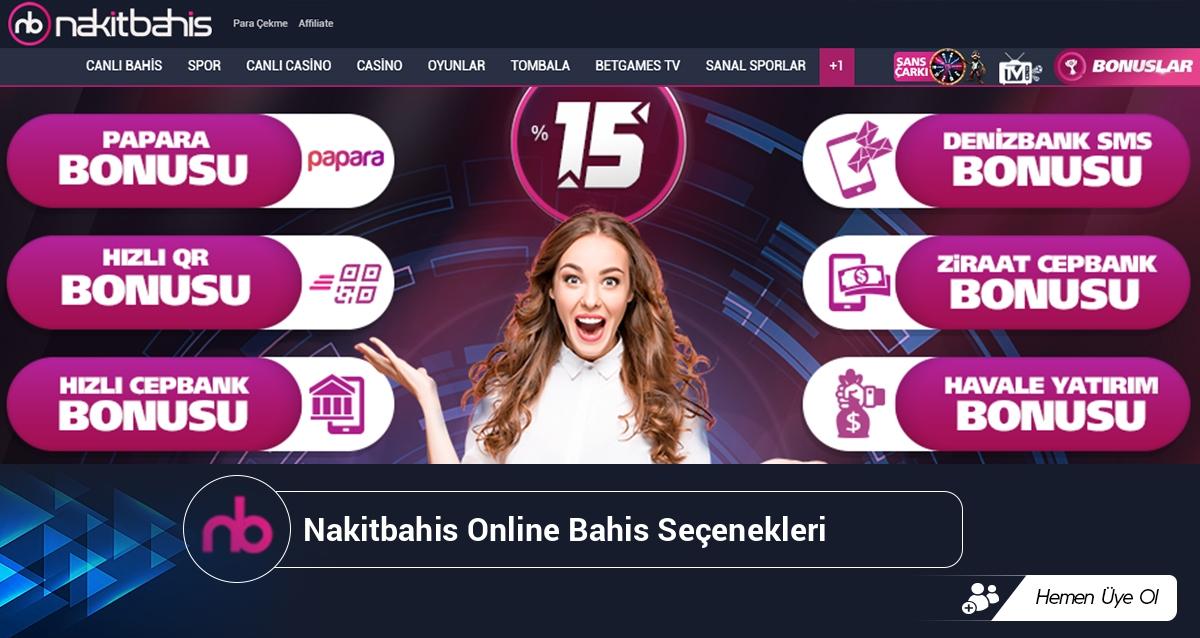 Nakitbahis Online Bahis Seçenekleri