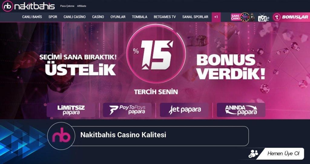 Nakitbahis Casino Kalitesi