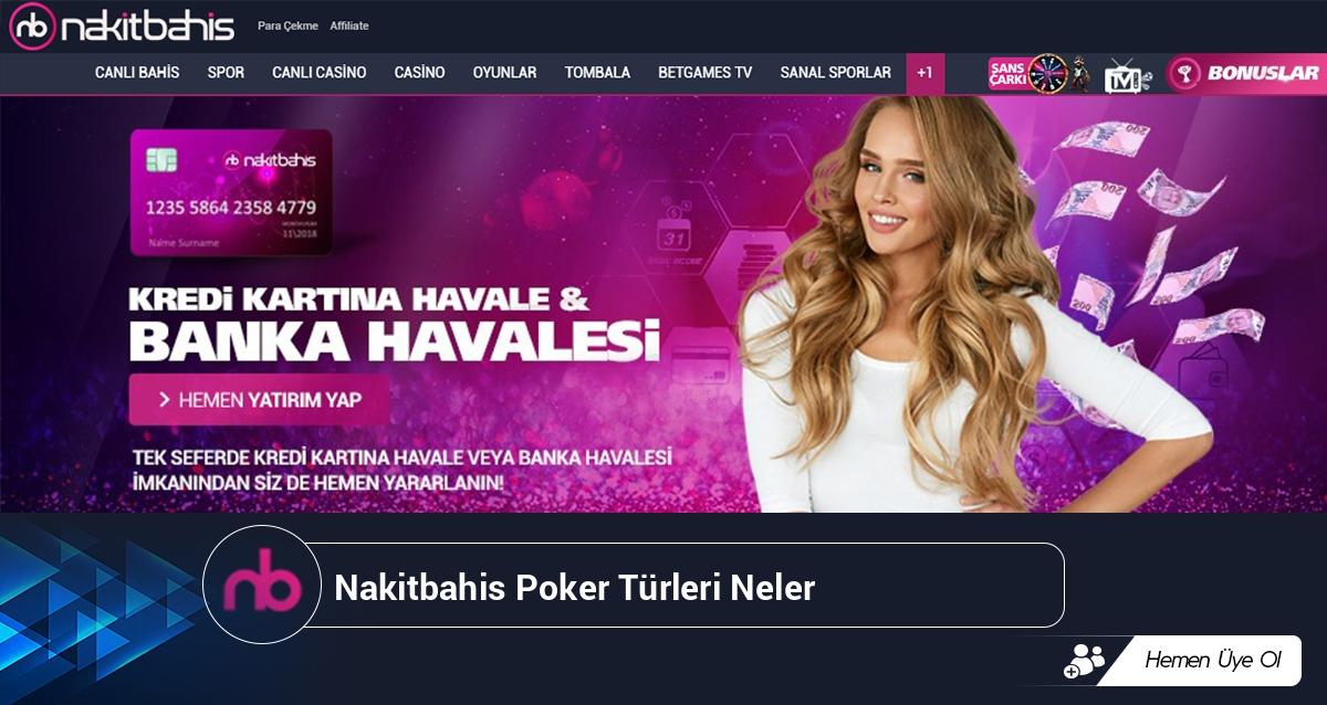 Nakitbahis Poker Türleri Neler